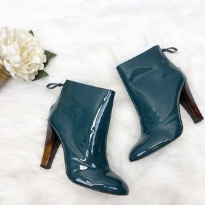 7FAMK Patent Leather Booties Sz 8.5